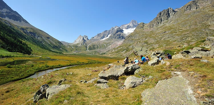Aosta- Combal sjön Val Veny