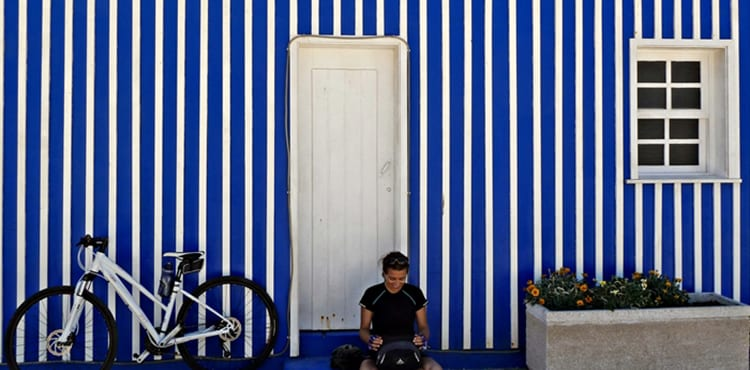 Paus en av cykeldagarna i Portugal