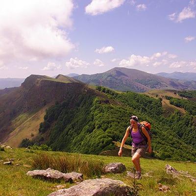vandrare i franska baskien