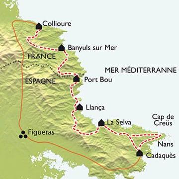 Colliour_Cadaques_vandringskarta