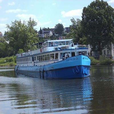 Båtcykling i längs Mosel