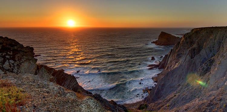 Solnedgång Algarve