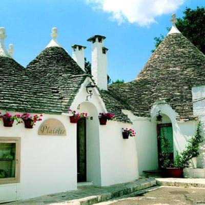 Trullihus i Apulien på Italienska klacken
