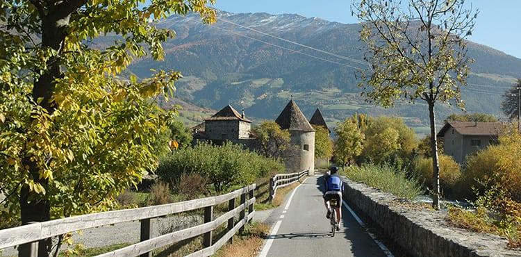En cykelbana i Trentino