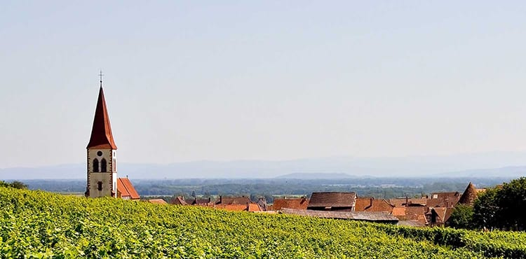 Cykla på egen hand i Alsace. EverTrek ordnar boende, bagagetransporter, kartor, m.m.