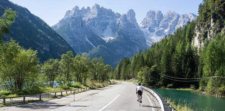 Cortina i Dolomiterna, landsvägscykel