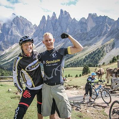 Mikael från Sportson och Sofia på Trails Camp