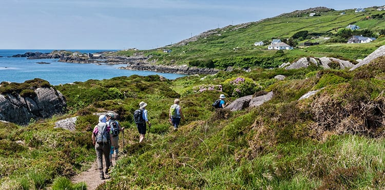 Vandring vid kusten i Irland med EverTrek på resan Ring of Kerry