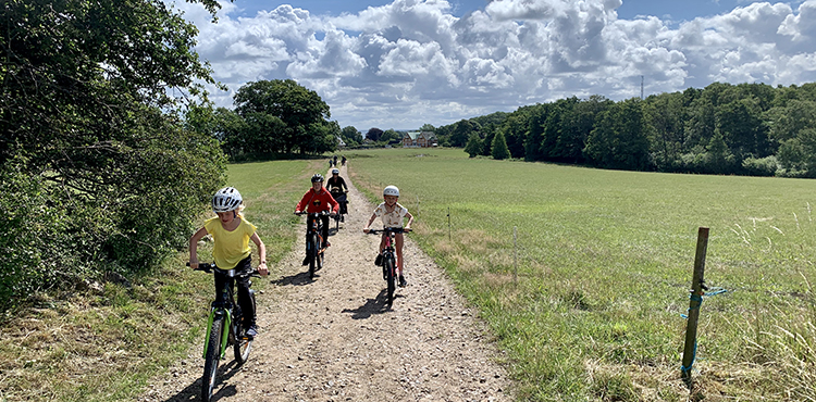 Cykla med barn från Arild till Mölle genom Kullabergs naturreservat.