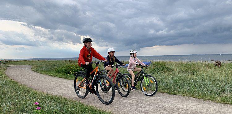 Cykla med barn i Skåne